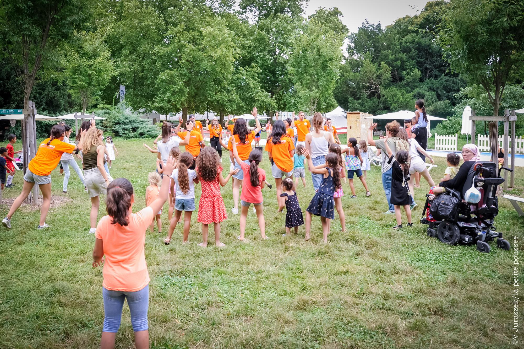 """atelier photo pour l'association """"la petite poussée"""" qui s""""est deroulé lors de l'événement """"l'été oh parc"""" le 30 juillet 2021-Grenoble-France"""